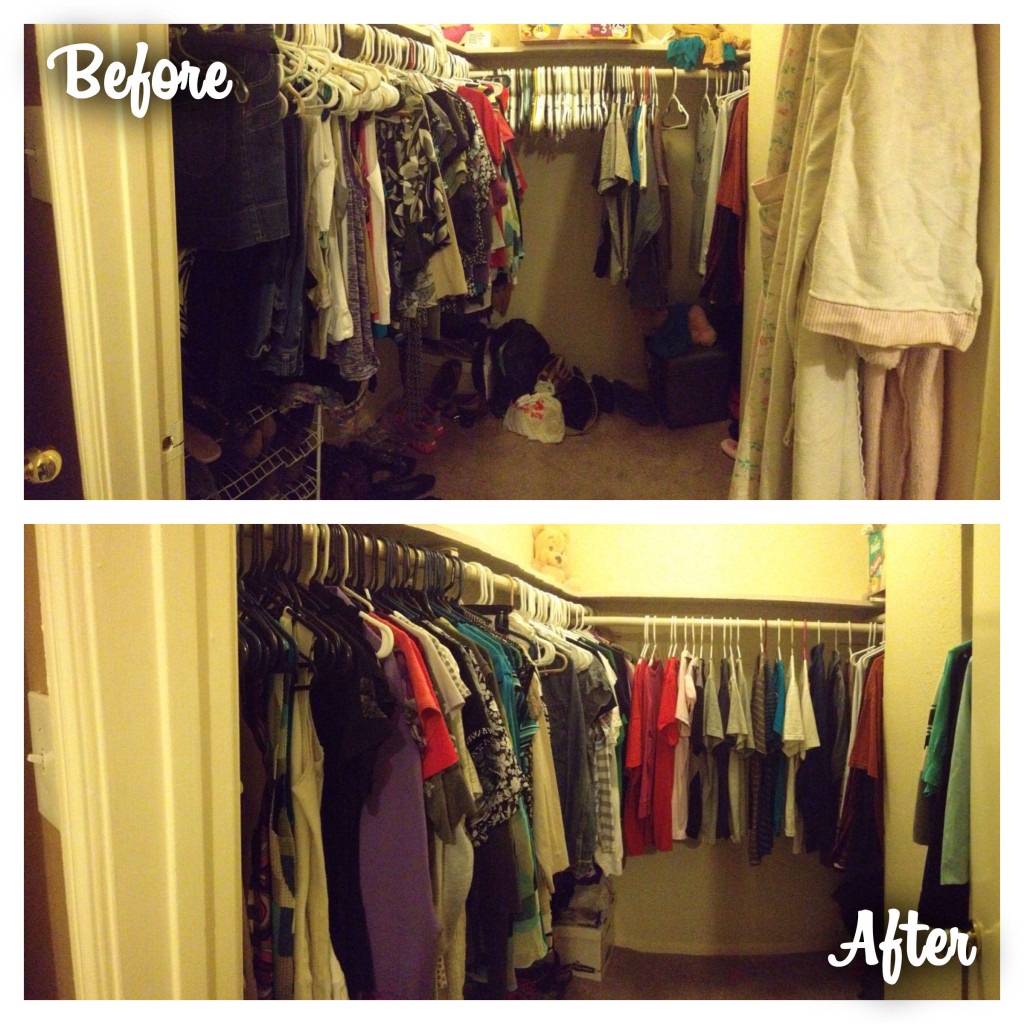Jeanna Before After Wardrobe Consultation Closet Organization Houston
