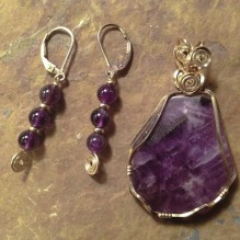 Royal Amethyst Wire Wrap Set {No. 1}