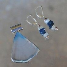 "Translucent Blue Agate ""Aspen"" Set {No. 4}"