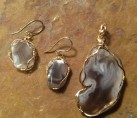 Sliced Botswana Agate Wire Wrap Set {No. 5}