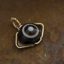 Botswana Eye Agate Wire Wrap Pendant {No. 22}