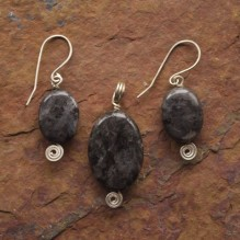 Black Labradorite Set {No. 31}