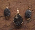 Black Labradorite Wire Wrap Set {No. 32}