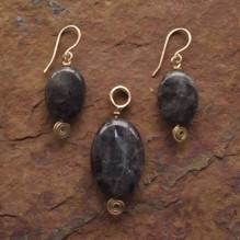 Black Labradorite Set {No. 33}