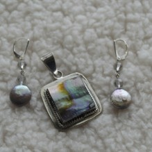 Pink Abalone & Sterling Set {No. 42}