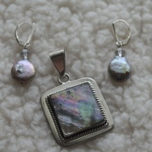 Pink Abalone & Sterling Set {No. 43}