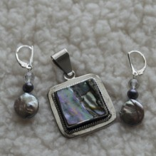 Pink Abalone & Sterling Set {No. 44}