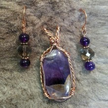 Amethyst Lace Copper Wrapped {No. 52}