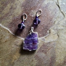 Amethyst Lace Sterling Wrapped {No. 54}
