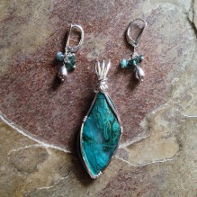 Chrysocolla Sterling {No. 55}