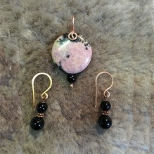 Pink Rhodonite Copper {No. 69}