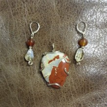 Rainbow Jasper Heart {No. 72}