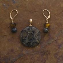 Kambaba Jasper & Seaweed Stone Set {No. 28}
